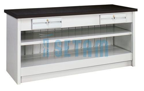 comptoir de magasin m tallique simple 2 m tres. Black Bedroom Furniture Sets. Home Design Ideas