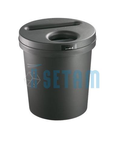 corbeille de bureau poubelle ecogreen 2 x 15l pour papiers et autres d chets. Black Bedroom Furniture Sets. Home Design Ideas