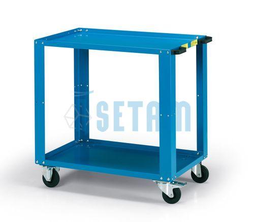 desserte atelier 2 plateaux chariot 2 niveaux charge 200 kg. Black Bedroom Furniture Sets. Home Design Ideas