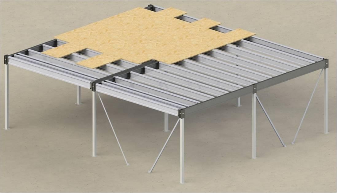 Plateforme stockage sur mesure mezzanine m tallique for Plancher bois pour mezzanine