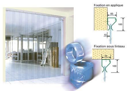 Porte souple rideau a laniere souple for Rideau chambre froide