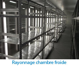 Rayonnage chambre froide