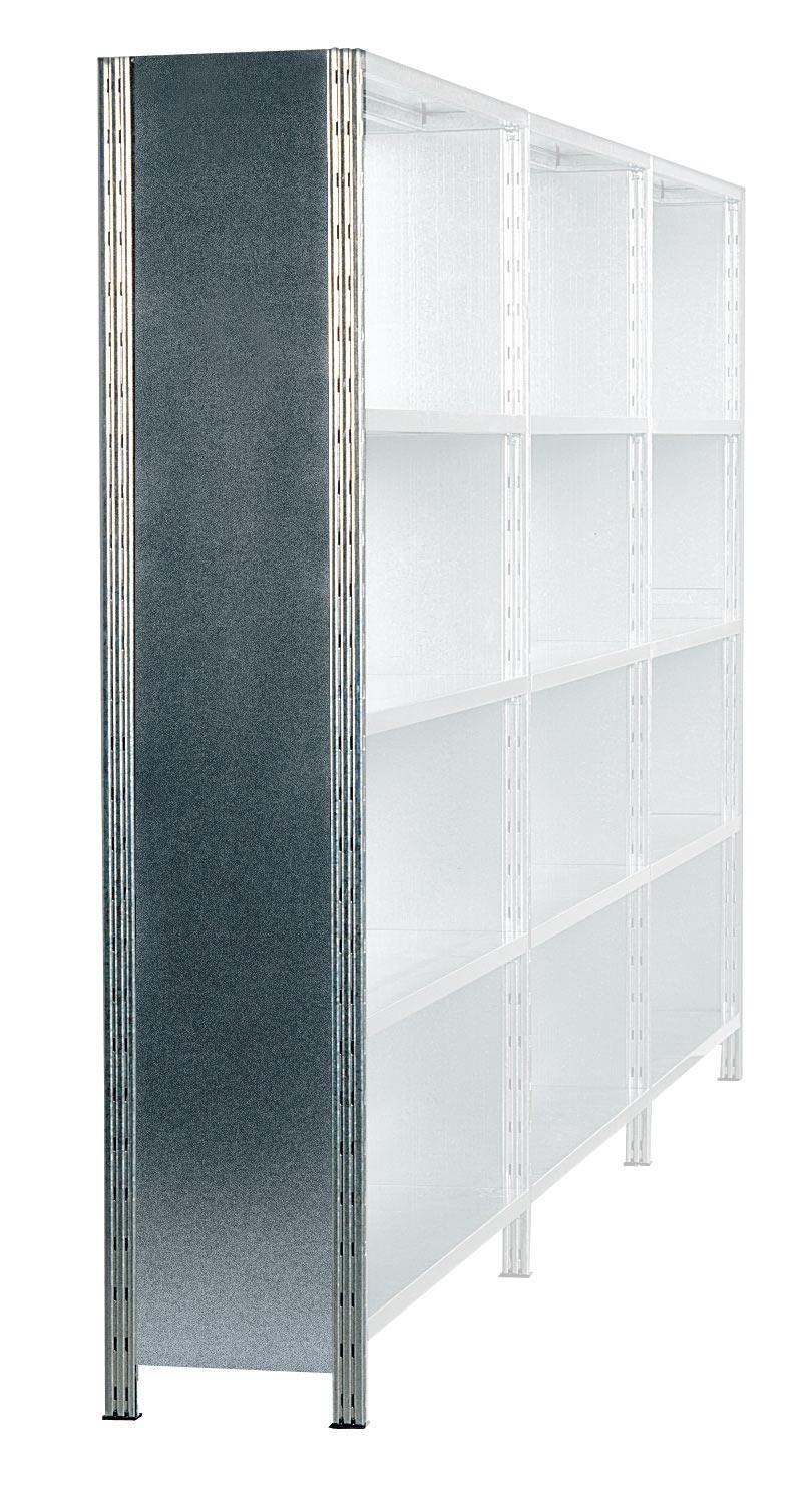 Echelle tôlée rayonnage galvanisé H.300 x P.60 cm