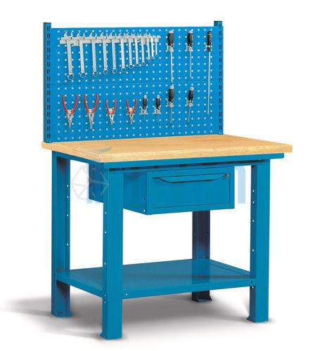 etabli panneau porte outils tablis troit plateau bois. Black Bedroom Furniture Sets. Home Design Ideas