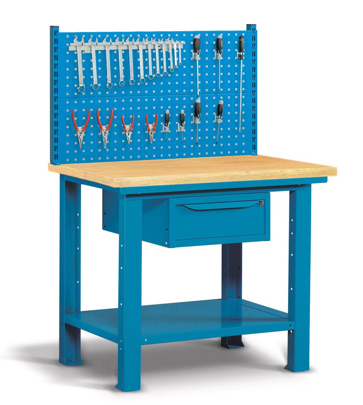 Etabli avec panneau perforé porte-outils 1 mètre