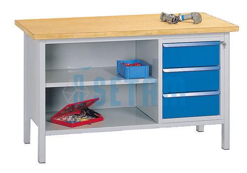 etabli d 39 atelier tabli professionnel hercule 4 dessus bois mm. Black Bedroom Furniture Sets. Home Design Ideas