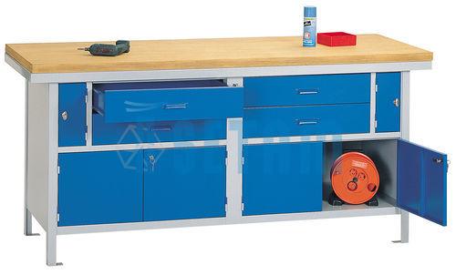 etabli m canicien hercule avec tiroirs et plateau bois. Black Bedroom Furniture Sets. Home Design Ideas