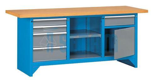 etabli m tallique tabli professionnel profix 6 avec tiroirs 2 m tres. Black Bedroom Furniture Sets. Home Design Ideas