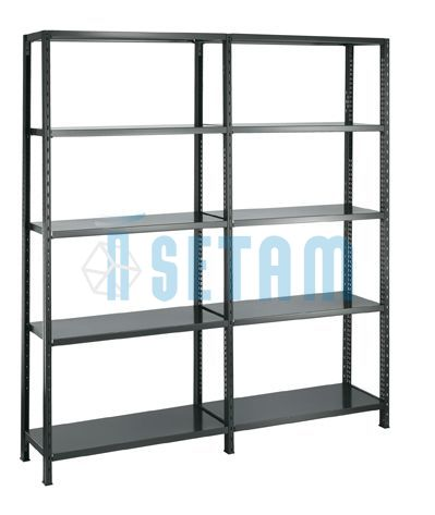 etagere metallique rayonnage metal design noir. Black Bedroom Furniture Sets. Home Design Ideas