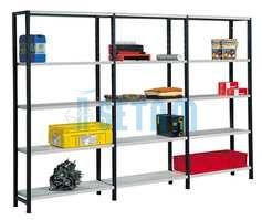 etagere metallique rayonnage universel peint pour rangement. Black Bedroom Furniture Sets. Home Design Ideas