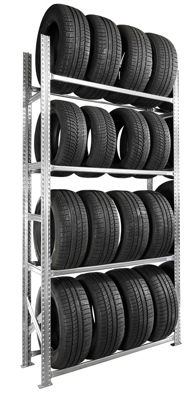 Etagère pneus voiture kit départ 4 niveaux 50 cm