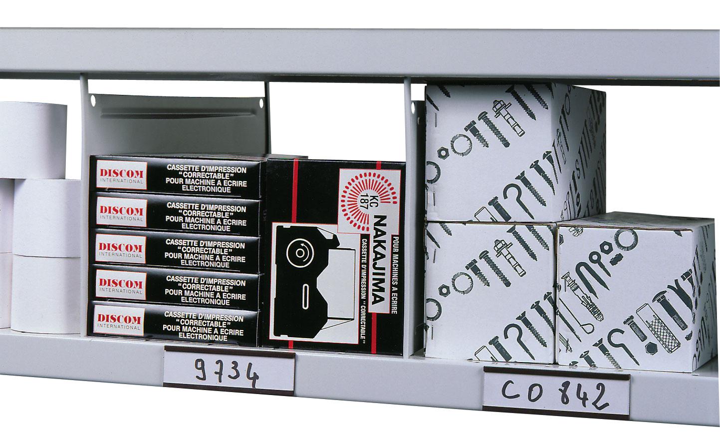 Etiquette magnétique rayonnage H.30 x L.100 mm