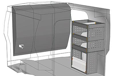 Kit aménagement Bipper métallique côté Droit