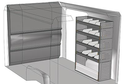 Kit aménagement Boxer L1 métallique côté Droit