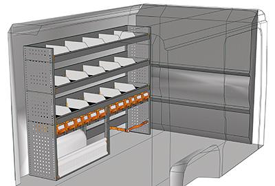 Kit aménagement Boxer L1 métallique côté gauche