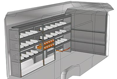 Kit aménagement Boxer L3H2 métallique côté conducteur