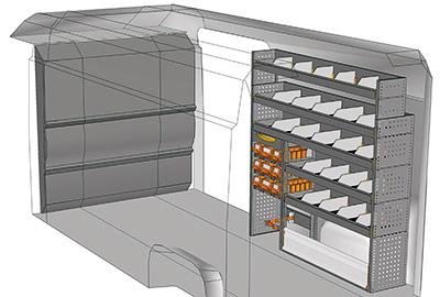Kit aménagement Boxer L3H2 métallique côté Droit