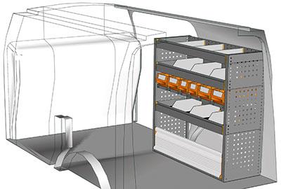 Kit aménagement Connect L2 métallique côté passager
