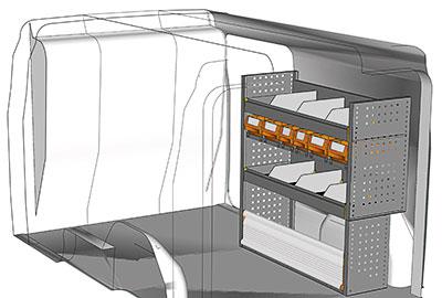 Kit aménagement Doblo L2 métallique côté passager