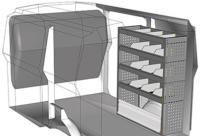 Kit aménagement Expert L1 métallique côté Droit