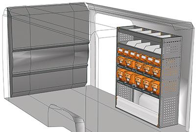 Kit aménagement Jumper L2 métallique côté Droit