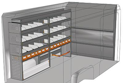 Kit aménagement Jumper L2 métallique côté gauche