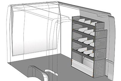 Kit aménagement Master L1 métallique côté Droit
