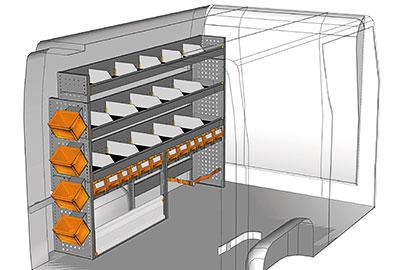 Kit aménagement Master L1 métallique côté gauche