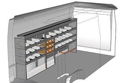 Kit aménagement Master L3 Traction côté gauche