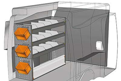 Kit aménagement Partner L1 métallique côté gauche