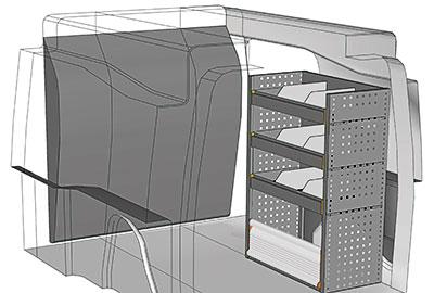 Kit aménagement Partner métallique côté droit