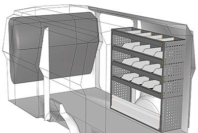 Kit aménagement Scudo L2 métallique côté droit