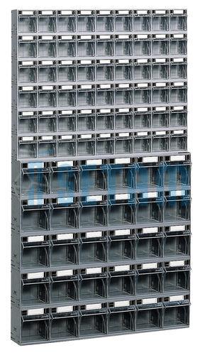 kit bloc tiroir plastique praticbox 84 tiroirs avec cadre support mural setam. Black Bedroom Furniture Sets. Home Design Ideas
