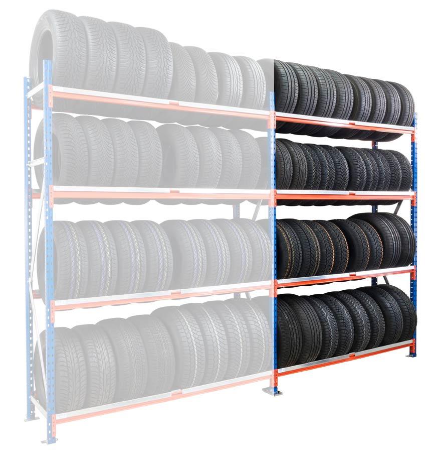 Kit suivant rack pneus L.150xP.50xH.250 cm