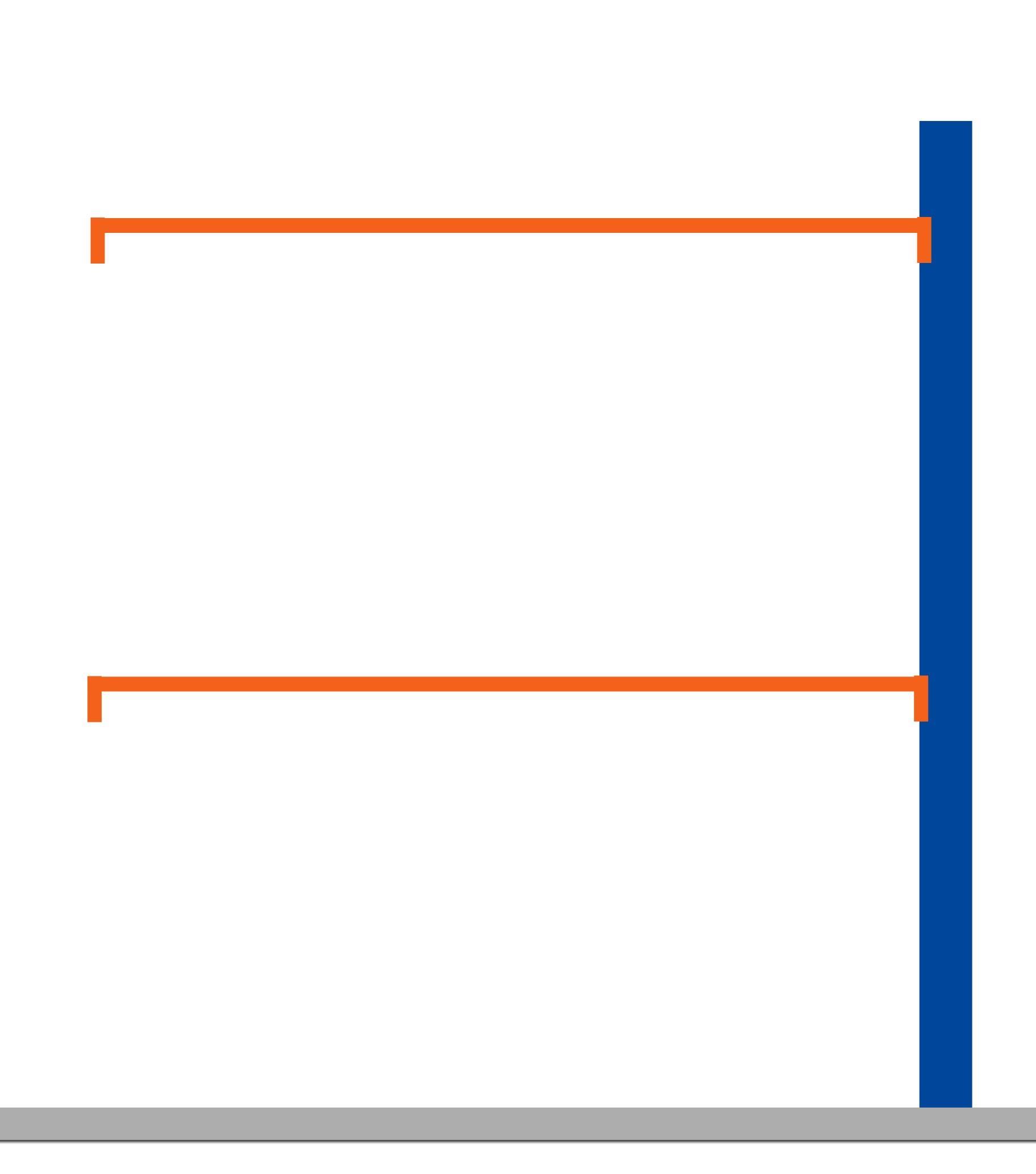 Kit suivant rayonnage porte-cintres charge lourde L.185 cm