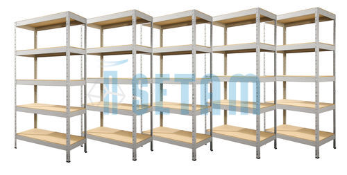 etagere de garage pas cher good etageres metalliques etagere metallique garage pas cher leroy. Black Bedroom Furniture Sets. Home Design Ideas