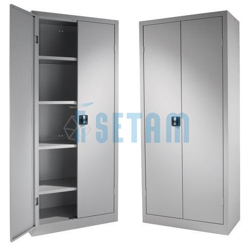 Armoire metal gris clair lot de 2 armoires m talliques jura for Armoire metallique 2 portes