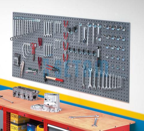 panneaux perfor s lot de 2 panneaux porte outils muraux. Black Bedroom Furniture Sets. Home Design Ideas