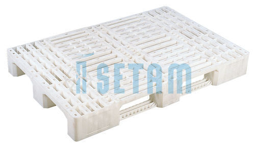 palette plastique europe 1200x800 blanche. Black Bedroom Furniture Sets. Home Design Ideas