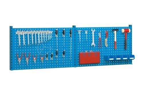 panneau perfor porte outils x mm avec 22 crochets. Black Bedroom Furniture Sets. Home Design Ideas