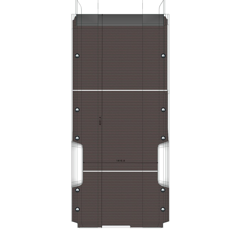 Plancher bois Ducato L4 avec porte latérale