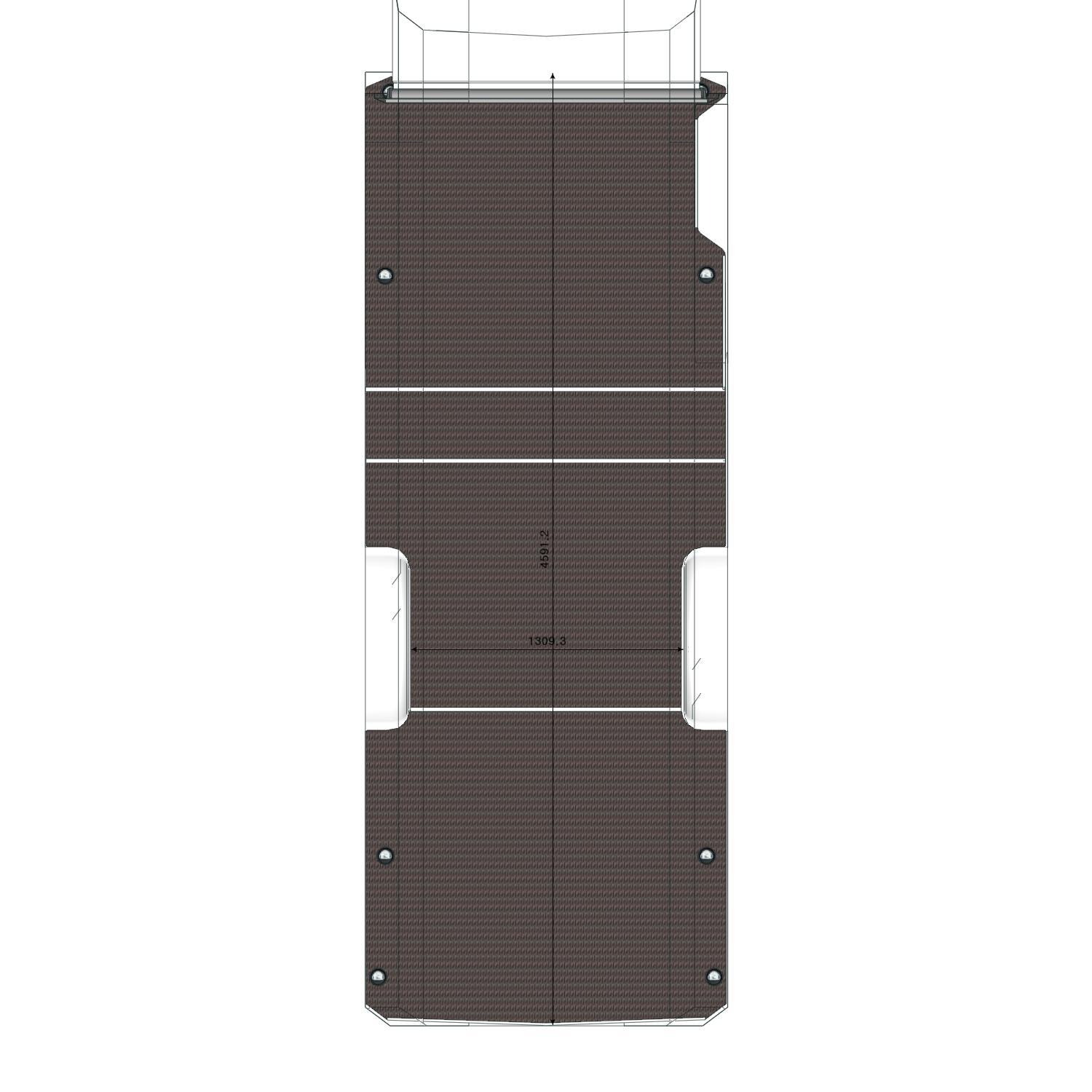 Plancher Daily Iveco L3 roues simples