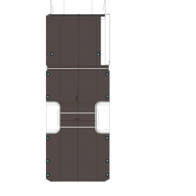Plancher Sprinter Utilitaire L3L avec roues jumelées