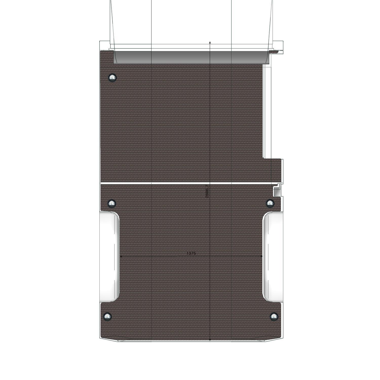 Plancher Transit Utilitaire L2 Propulsion avec porte Latérale Droite