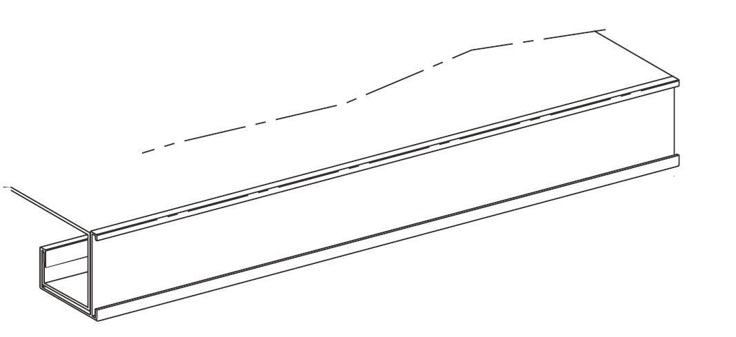 Porte étiquette pour tablette rayonnage L.97 cm