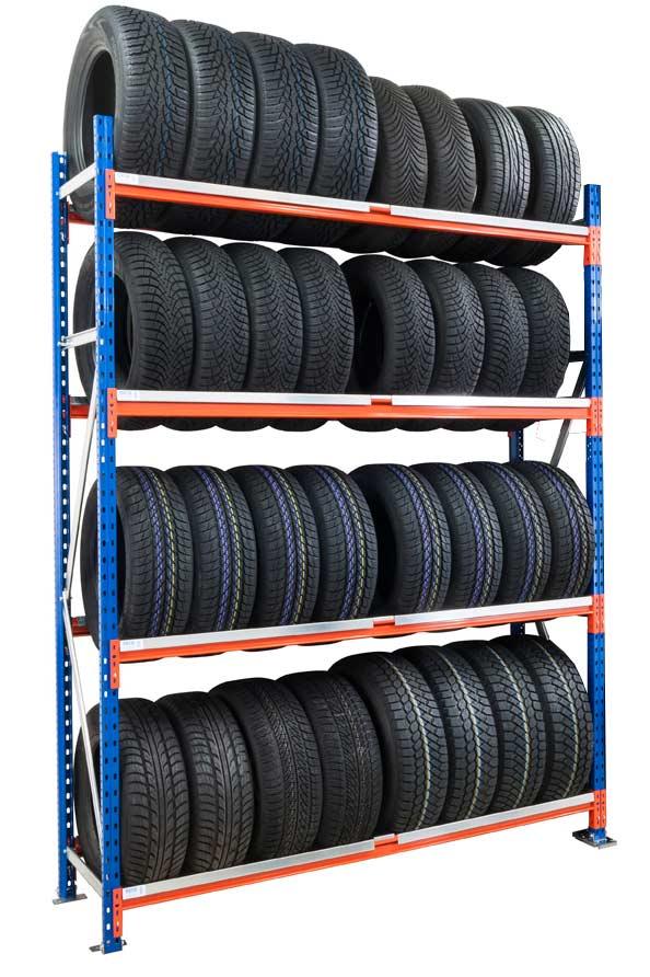 Rack à pneus 4 niveaux hauteur 2m50