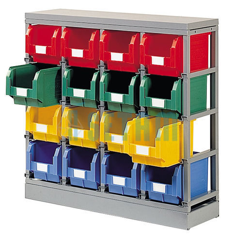 rack de rangement 16 postes avec bacs plastique 12 5 litres setam. Black Bedroom Furniture Sets. Home Design Ideas