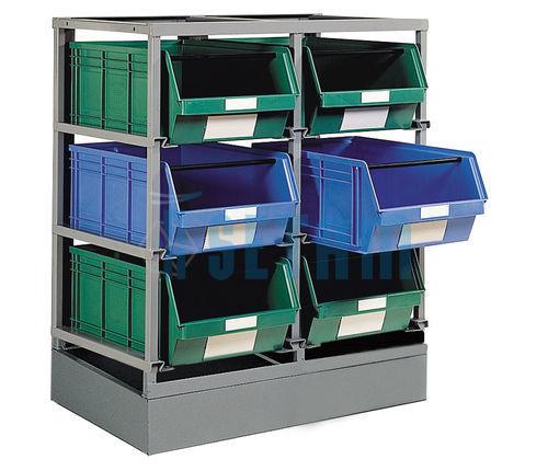 rack de rangement avec 6 bacs plastique 88 litres setam. Black Bedroom Furniture Sets. Home Design Ideas