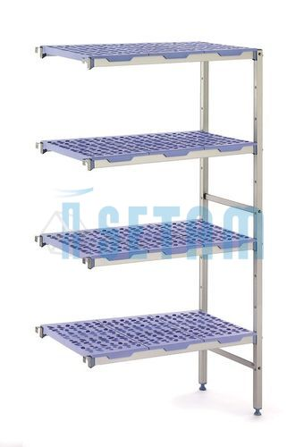 Rayonnage alimentaire - kit suivant - H.1750 x L.1210 x P.400 mm