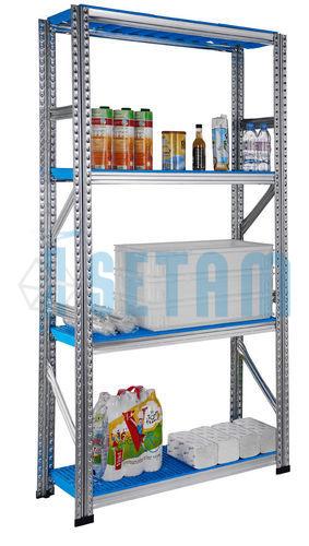 Rayonnage alimentaire réserves, étagère clayettes L.980 mm